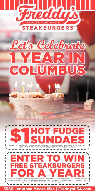 Let's Celebrate 1 Year In Columbus