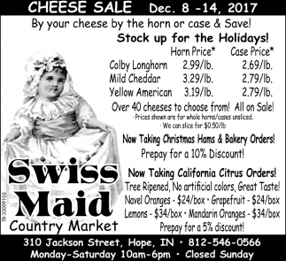 Cheese Sale