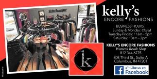Kelly's Encore Fashions