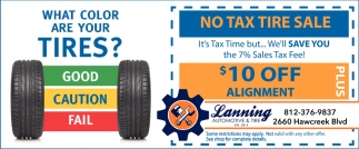 No Tax Tire Sale