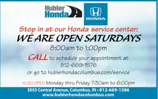 Stop In At Our Honda Service Center