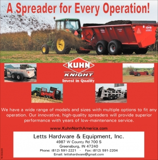 A Spreader For Every Operation!