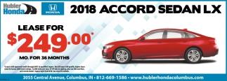 2018 Accord Sedan LX