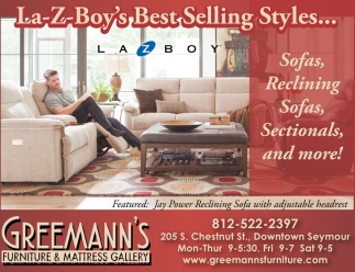 Sofas, Reclining Sofas, Sectionals, And More!, Greemannu0027s Furniture And  Mattress Gallery, Seymour, IN