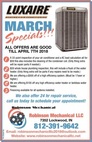 March Specials!