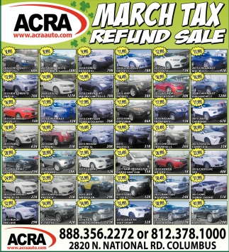 March Tax Refund Sale