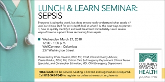 Lunch And Learn Seminar: Sepsis