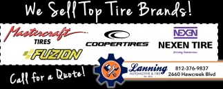We Sell Top Tire Brands!