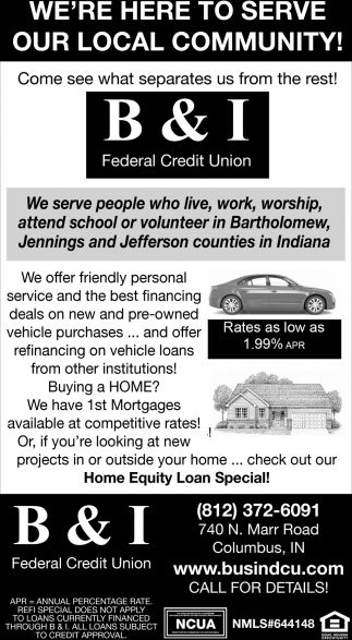 We're Here To Serve Our Local Community!