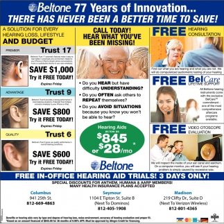 Free In-Office Hearing Aid Trials! 3 Days Only!