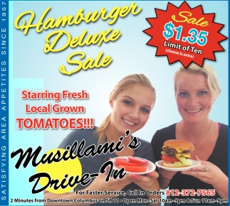 Hamburger Deluxe Sale