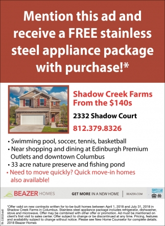 Shadow Creek Farms From The $140s