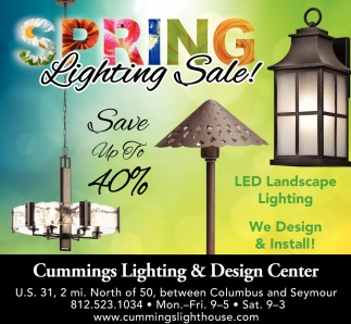 Spring Lighting Sale!