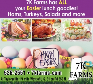 7k Farms Has All Your Easter Lunch Goodies!