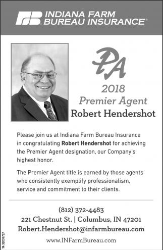 2018 Premier Agent: Robert Hendershot