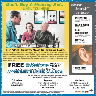 Bon't Buy A Hearing Aid... Until You Hear