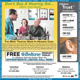 Bon't Buy A Hearing Aid... Until You Hear